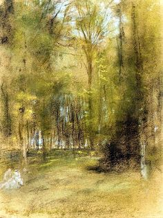 In the Woods / Edgar Degas - circa 1870-1873
