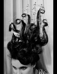 squid ship attack hair. OMG THAT IS UTTERLY FABULOUS | halloween hair | amazing hair styles | shipwreck halloween costume | halloween costume ideas