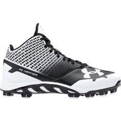 Under Armour Kid\u0027s Spine Heater Mid TPU Baseball Cleats - Black/White |  DICK\u0027S Sporting