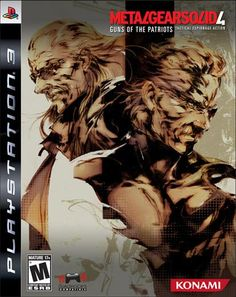 Metal Gear Solid Guns of the Patriots is the final chapter in the saga of Solid Snake which sends him around the world in pursuit of his arch nemesis, Liquid Ocelot. Xbox, Playstation Games, Metal Gear Solid, Nintendo 3ds, Ps4, Zone Of The Enders, Video Game Industry, Comic Book Covers, Video Game Art