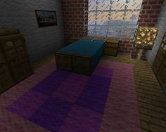 Minecraft Furniture - Bedroom - A large bed with unique pillows ...