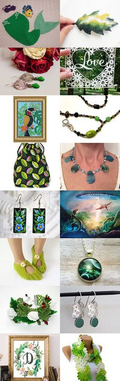 Gifts of Green by 1 Agape Team by Wirednstrung on Etsy--Pinned with TreasuryPin.com