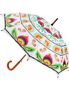 Folk Umbrella White