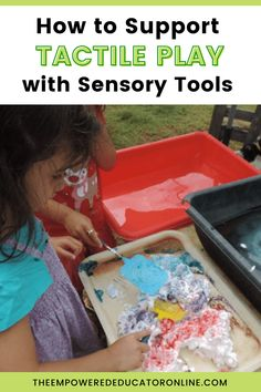 Sensory Activity Ideas And Tools To Support Sensory Play - Regularly exposing children to sensory play activities is one of the best ways that educators and parents can support children to challenge themselves with new textures and experiences. If you're not sure how to introduce play activities using sensory tools to support tactile play and children who don't like messy hands, this post will give you lots of ideas to get started. | The Empowered Educator
