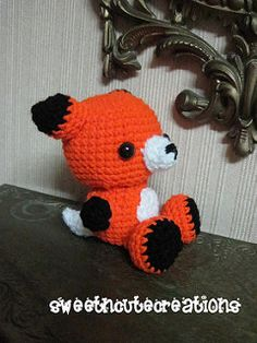 Ravelry: Amigurumi Fox pattern by Sweet N' Cute Creations Crochet Fox, Fox Pattern, Yoshi, Ravelry, Nerdy, Snoopy, Stuffed Animals, Sweet, Cute
