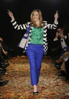 Love this outfit!  @Vera Sweeney was workin' her Marshall's look at #NYFW