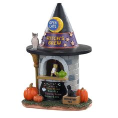 Lemax decorative villages are a holiday tradition made with old-world craftsmanship, combined with new-age technology. Halloween Village Display, Lemax Christmas Village, Halloween Town, Halloween Decorations, Christmas Shopping Online, Online Shopping, Witches Brew, Table Accessories, Painted Doors