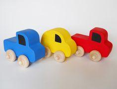Wooden Vehicles Car Truck Waldorf Toy Nursery by 2HeartsDesire