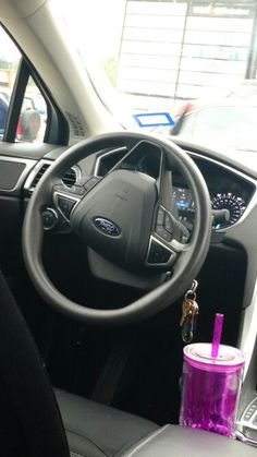 Steering wheel on ford fusion