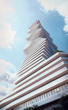 "Rendering of ""M city"" tower in Mississauga, Ontario, Canada"