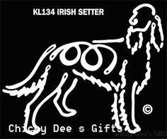Pet Gits USA K-Lines Irish Setter Window Cling Tattoo