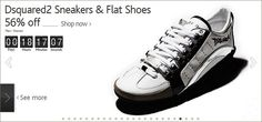 [ DSQURED 2 for men and women ] DSqured 2 signature sneakers and flat shoes for women. http://clubvenit.com/deal/1425