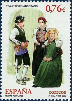 traditional costumes from spain | P8 Buttons & Fabrics: Traditional Costumes : Postage Stamps Spain