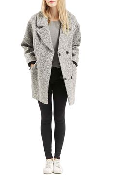 So pumped for my christmas present to myself this year! | Topshop 'Amelia' Slouch Coat | Nordstrom