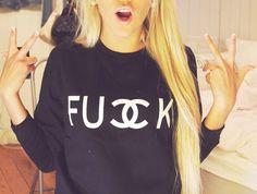 Chanel fucck sweater, i want lol
