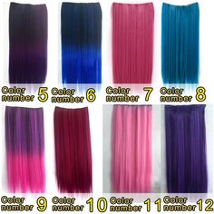 2017 Fashn soft  Long Highlight Ombre Clip in hair Extensions Cosplay