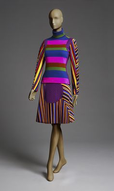 Stephen Burrows rose to prominence in the 1960s with his inventively cut and patterned designs. He became the first African-American fashion designer to gain international stature. (via The Philadelphia Museum of Art)