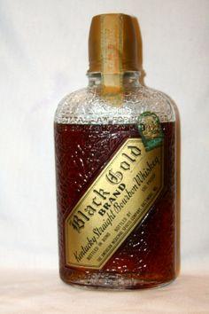 Black Gold Kentucky Straight Bourbon Whiskey – Made 1916 – Bottled 1934