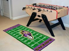 "Baltimore Ravens Runner 30""x72"" by Fanmats. $39.27. Baltimore Ravens Runner 30""x72""For all those football fans out there: football field-shaped area rugs by FANMATS. Made in U.S.A. 100% nylon carpet and non-skid recycled vinyl backing. Machine washable. Officially licensed. Chromojet printed in true team colors. Please note: These products are custom made. The normal lead time is about 7-10 business days. However, the putting mats and carpet tiles do take a little longer,..."