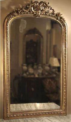 Antique Grand Napoleon III Period Gilded Mirror | Antiques Mirrors | Inessa Stewart's Antiques