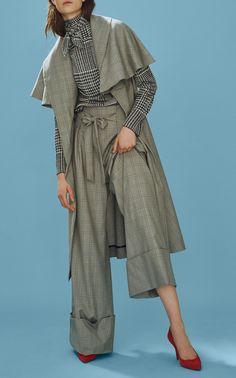 Cooper Knee Length Coat by PAPER LONDON for Preorder on Moda Operandi