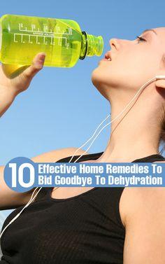 10 Effective Home Remedies To Bid Goodbye To Dehydration - Health Nacks Home Health Remedies, Natural Health Remedies, Health And Beauty Tips, Health Tips, Health Articles, Adrenal Health, Medical Help, Natural Treatments, Bebe