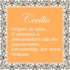 Significado do nome Cecilia | Significado dos Nomes Mr Wonderful, Names With Meaning, Baby Girl Names, Future Baby, Meant To Be, Memes, Bts, Random, Youtube