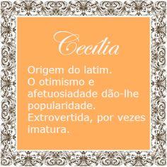 Significado do nome Cecilia   Significado dos Nomes