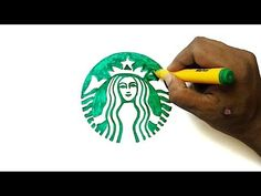 Learn how to draw the Starbucks logo (the two-tailed mermaid) in this step by step drawing tutorial Starbucks Art, Starbucks Vanilla, Starbucks Coffee, Doodle Books, Doodle Art, Mermaid Tail Drawing, Logo Tutorial, Coffee Logo, Food Drawing