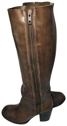 c8f1026b3 FREEBIRD by Steven Brown Beau Leather Riding Women Boots/Booties Size US 6  Regular (