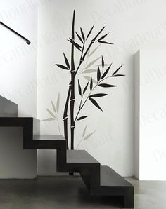 Large Bamboo tree Branch Removable Vinyl Wall Decals Sticker Wall Art Home Decor