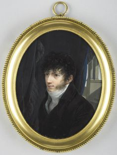 Jean-Baptist Isabey (1767-1855) French Miniaturist painter. At 19, after some lessons from Dumont, miniature painter to Marie Antoinette, he became a pupil of Jacques-Louis David. Employed at Versailles on portraits of the Dukes of Angoulême & Berry, he was given a commission by the queen, which opens the long list of those he received from successive French rulers until his death in 1855. Patronised by Josephine & Napoleon Bonaparte,  he arranged the ceremonies of their coronation.