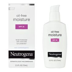 Best for: Moisture and sun protection Why we love it: It's oil-free, fragrance-free, sheer and it protects skin from the sun, all while providing long-lasting, nonirritating moisturization. Oil-Free Facial Moisturizer Lotion SPF 35, $7.59 atAmazon
