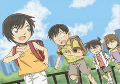 Sato, Takagi, Conan, Ai.