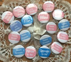 The Wedding Party, Muffin ink Wedding badges