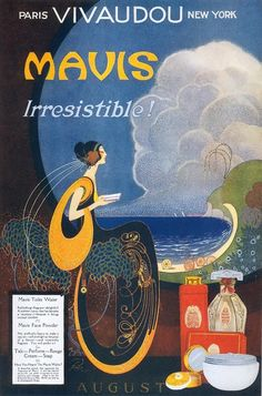 Mavis Perfume ad by Frank L. Packer, August 1920.