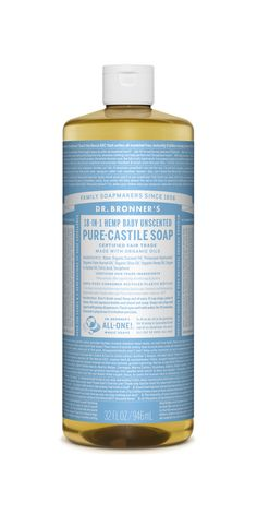 Dr. Bronner's Organic Pure Castile Liquid Soap unscented baby contains no fragrance so is great for