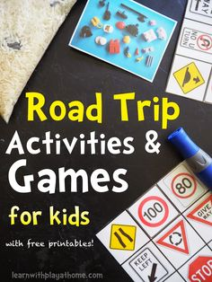 Road-Trip activities and games for kids road trip games, road trips, indoor Road Trip Activities, Road Trip Games, Learning Activities, Road Trips, Toddler Activities, Games For Teens, Summer Activities For Kids, Play Based Learning, Learning Through Play