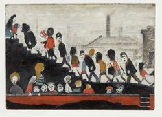 Children on the Steps. by Laurence Stephen Lowry Photo To Oil Painting, Painting & Drawing, English Artists, British Artists, Oil Painting Reproductions, Art Sketchbook, All Art, Art For Kids, Art Projects