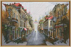 Counted Cross Stitch Kit By Nova Sloboda  City by ArtfulStitchings