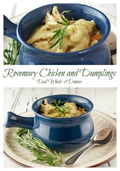 Rosamary Chicken and Dumplings Dad Whats 4 Dinner