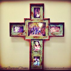 limited amount available custom barnwood cross by customframing 9900 - Wooden Cross Frame