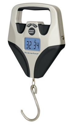 Digital luggage scale with an LCD screen from Travelon. Price : $24.99 http://www.viatorgear.com/Travelon-Luggage-Scale-Digital/dp/B00563JIAE