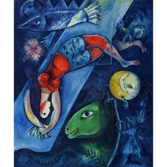 Marc Chagall, The Blue Circus, 1950-52, oil on canvas, MNAM, Centre Pompidou, Paris, France