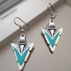 NWOT SILVER AND TURQUOISE ARROW HEAD EARRINGS NWOT SILVER AND TURQUOISE ARROW HEAD EARRINGS Jewelry Earrings