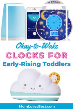 These clocks can be amazing sleep-training tools that will help you and your toddler both get more quality time in bed. Toddler Alarm Clock, Sleep Schedule, Sleeping Through The Night, Quality Time, Baby Sleep, Clocks, Training, Tools, Bed
