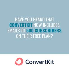 ConvertKit have increased the number of email subscribers on their free plan from 100 to 500. This is great news if you are just starting out and want to build a landing page and start emailing potential clients before committing to a paid subscription. To access this offer, head to Angel Rated to find out more. #review #onlinebusiness #emailmarketing #convertkit Business Products, Online Business, Business Mission, Squeeze Page, Life Purpose, Financial Planning, Email Marketing, Top Rated, Landing