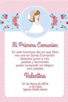 First Communion Invitations Holy Communion Invite Baptism Baptism Invitations Girl, First Communion Invitations, Quinceanera Cakes, Printable Box, First Holy Communion, Holi, Diy, Frame, Invite