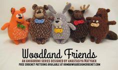 Woodland Friends Amigurumi Series Free Patterns Button