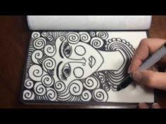 (2) Asmr Doodle Face (Asmr, Drawing, Doodling, Tingles, Tangles, Zentangle, No Talking) ... - YouTube